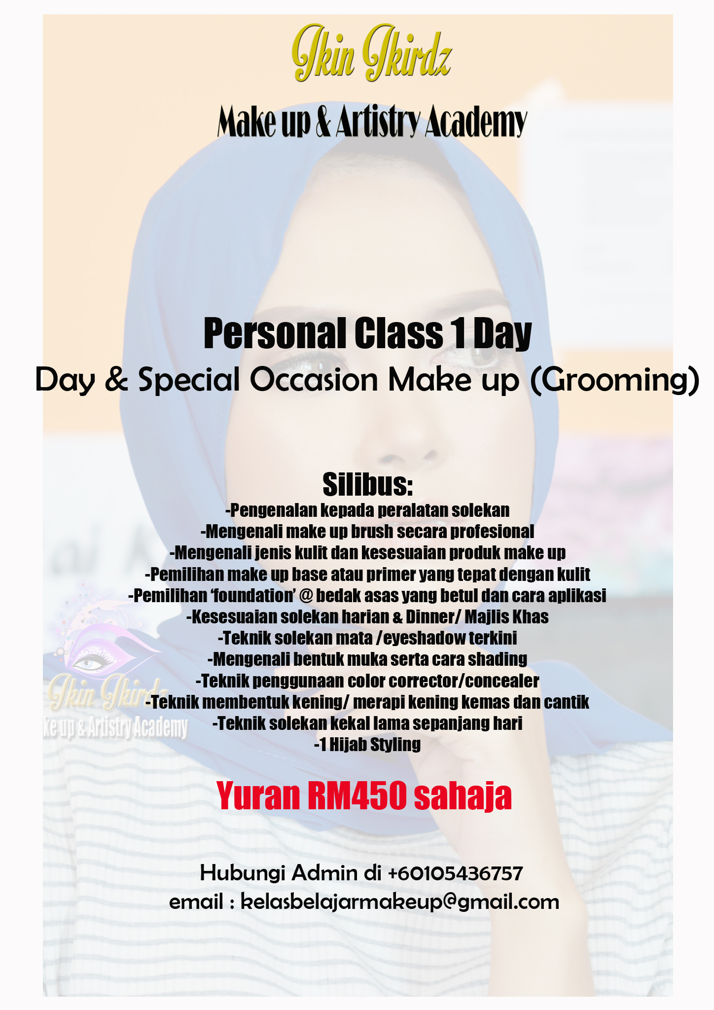 personal solekan asas basic make up grooming class